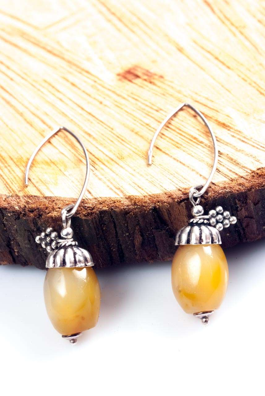 Agate Acorns Earrings