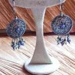 Amethyst in the Silver Net Earrings