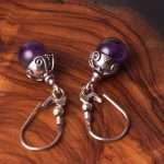 Antique Amethyst Earrings