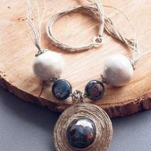Black & White Necklace