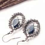 Blue Coral Wrapped in Silver