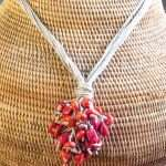 Coral Grapes Necklace