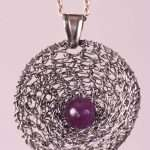 Amethyst in the Silver Net