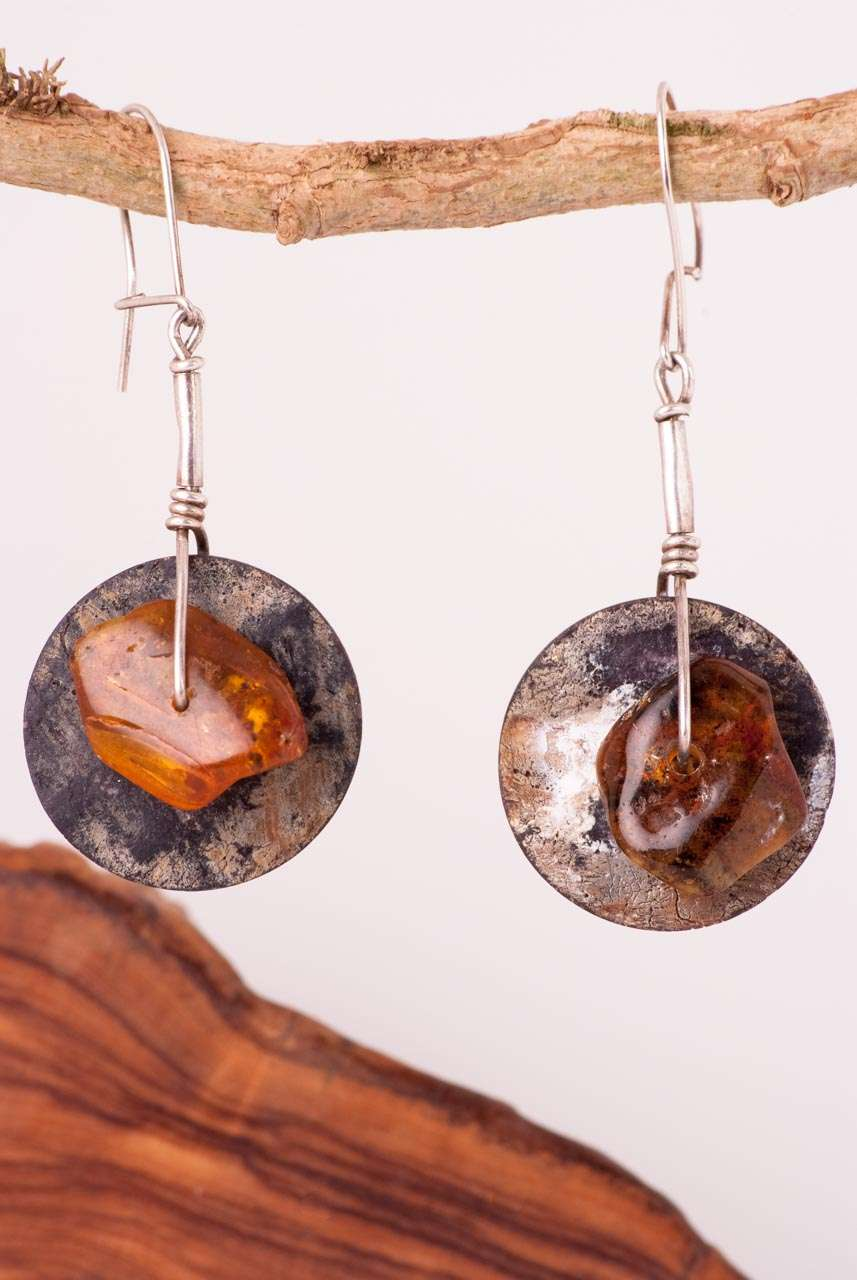 Ethnic Baltic Amber Earrings
