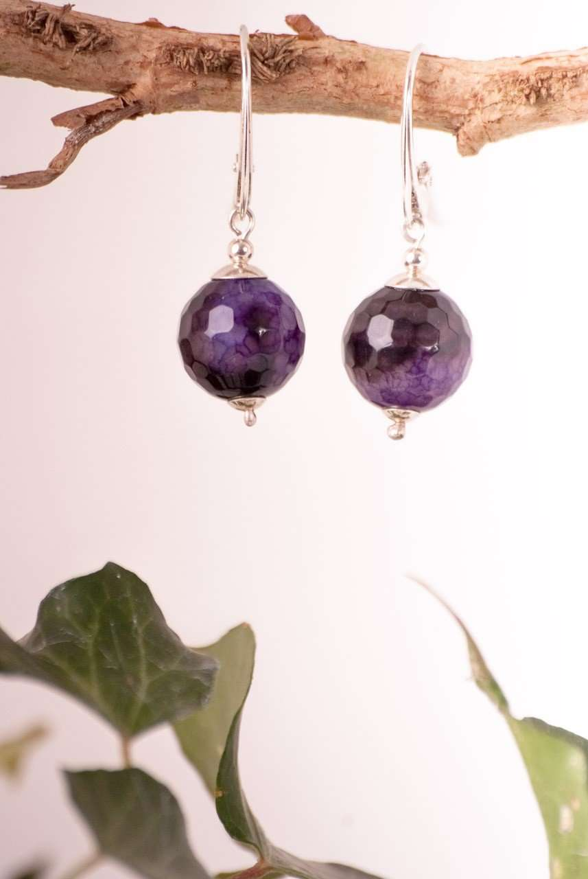 Faceted Agate Earrings