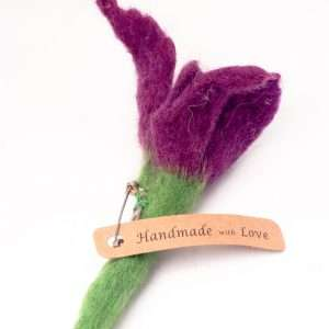 Brooch Iris Flower