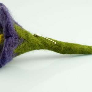 Felt Brooch Purple Flower