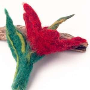 Felt Brooch Red Rose