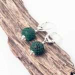 Green Lava Earrings
