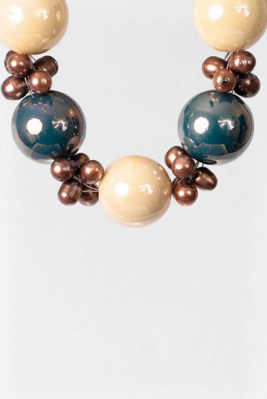 Ceramics Trio Necklace