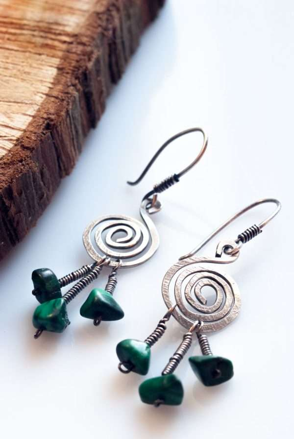 Silver Peacock Earrings