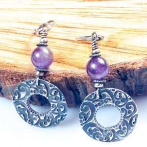 Silver Wreath Earrings