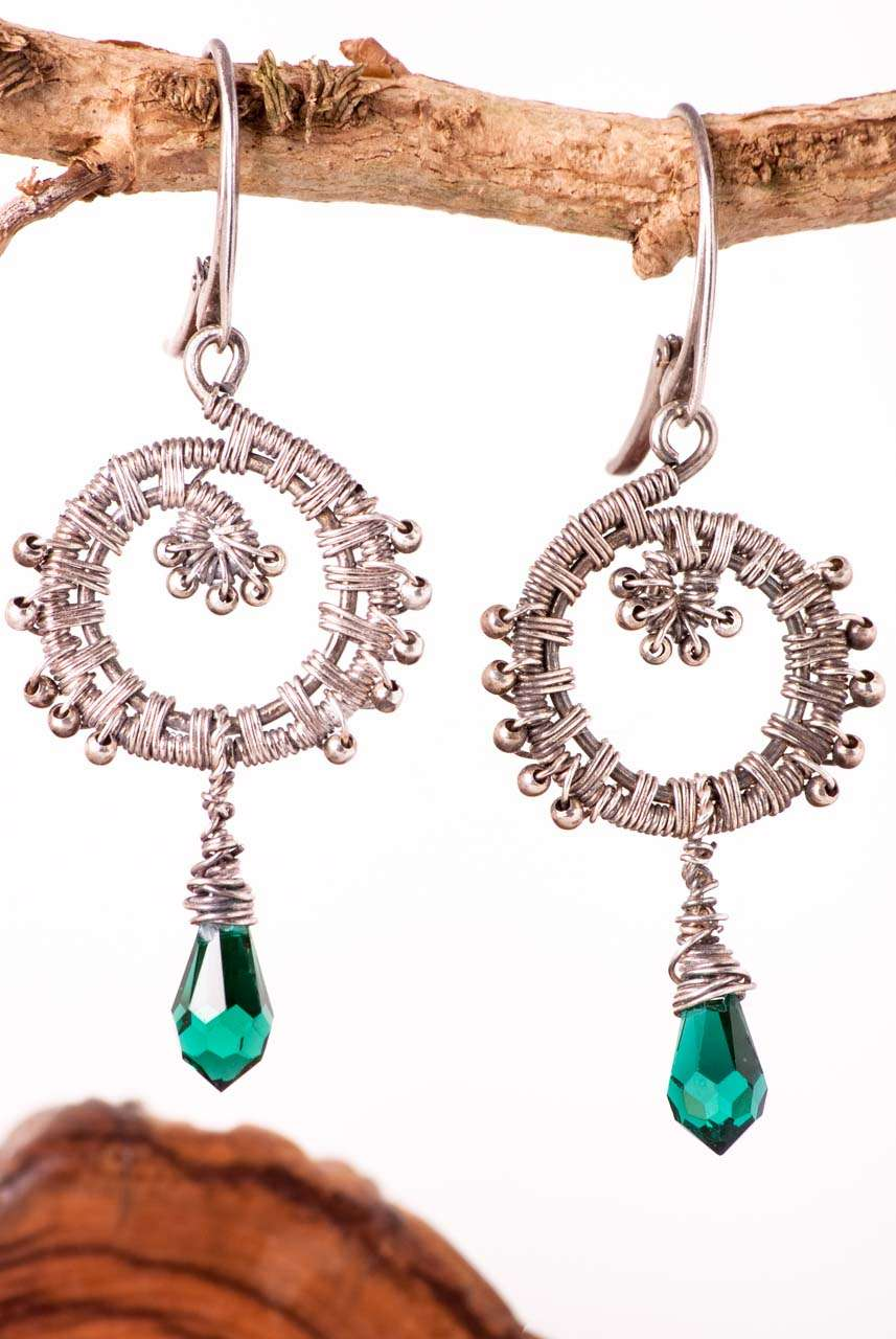 Swarovski Peacock Earrings