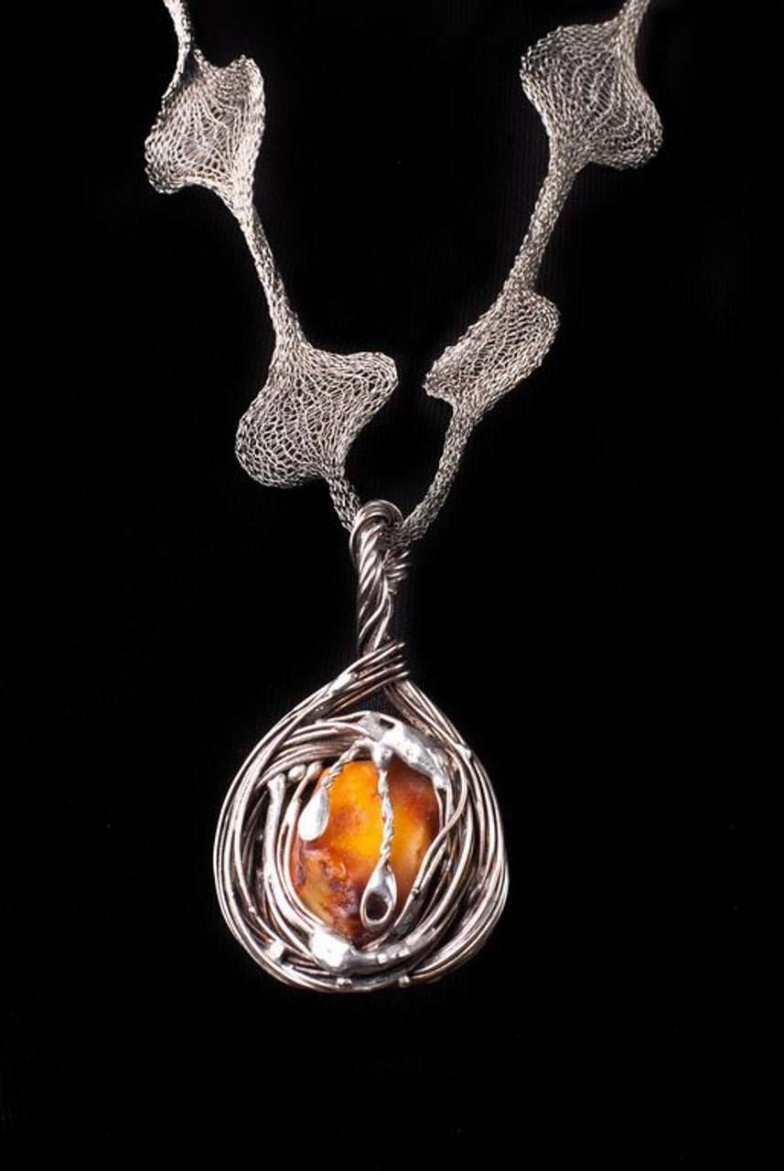Two side Baltic Amber Necklace