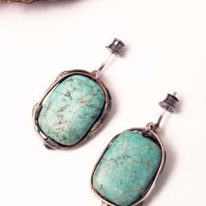 Wrapped Howlite Earrings