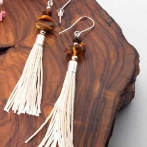 Amber Tassel Earrings IV