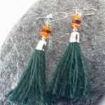 Amber Jute Earrings