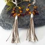 Amber Tassel Earrings II