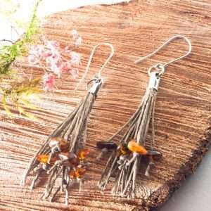 Amber Tassel Earrings III