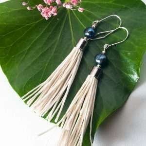 Water Pearl Tassel Earrings