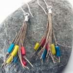 Coral RGB Tassel Earrings