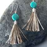 Round Howlite Tassel Earrings