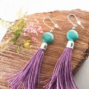 Howlite Tassel Earrings