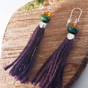 Jasper Tassel Earrings