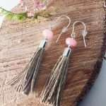 Jedeite Tassel Earrings