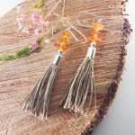 Trio Amber Tassel Earrings II