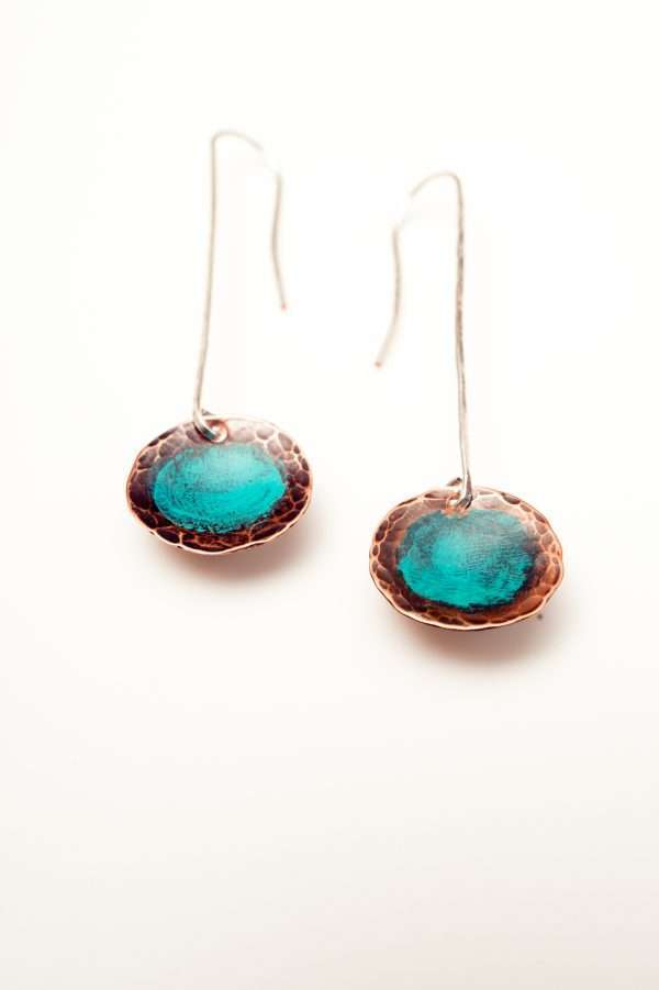 Disc Copper Earrings