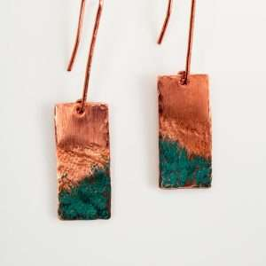 Rectangle Copper Earrings