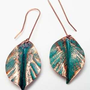 Green Copper Earrings
