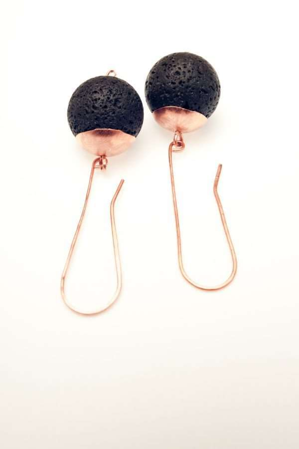 Lava and Copper Earrings