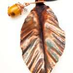 Copper Leaf with Acorn