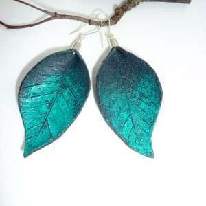 Hand Painted Leather Earrings III