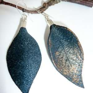 Hand Painted Leather Earrings I