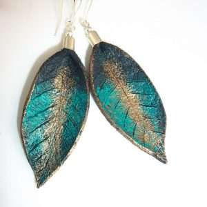 Handmade Painted Leather Earrings IV