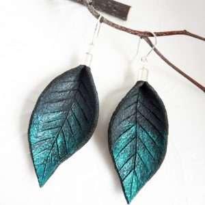 Hand Painted Leather Earrings II