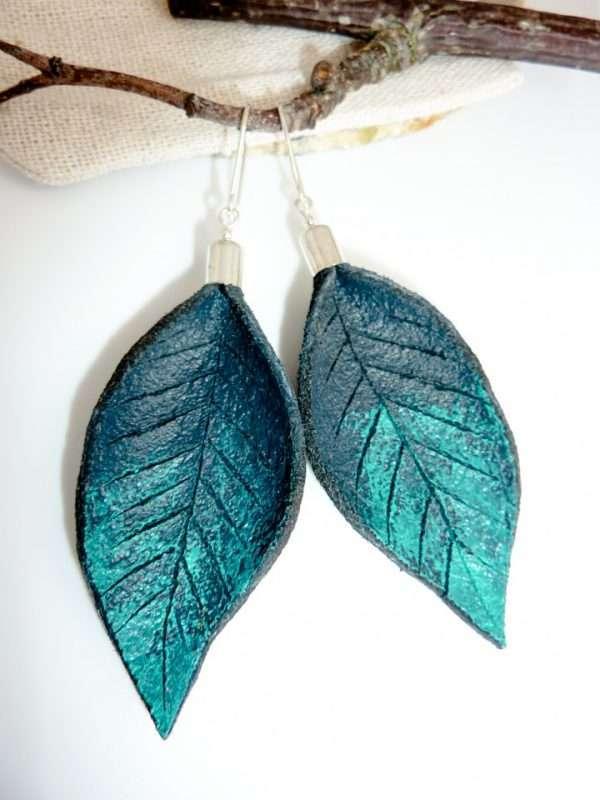 Handmade Painted Leather Earrings II
