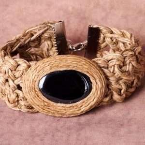 Eco Linen Embrace Bracelet