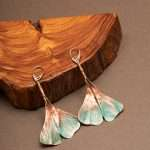 Ginkgo Green Earrings