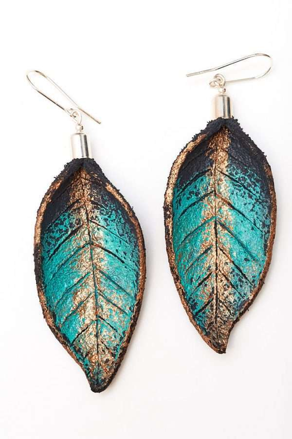 Hand Painted Leather Earrings IV by Ertisun Ireland Dublin