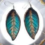 Hand Painted Leather Earrings IV