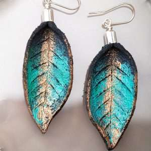 Hand Painted Leather Earrings V