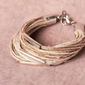 Girl Eco Linen Bracelet