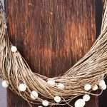 Eco Pearl Linen Necklace