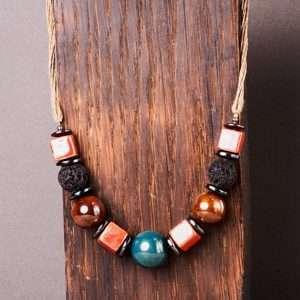 Multi Ceramic Necklace