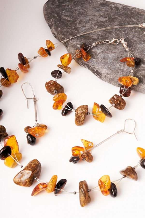 Baltic Amber Jewellery Set Handmade & Unique Necklaces | Handcrafted Necklaces
