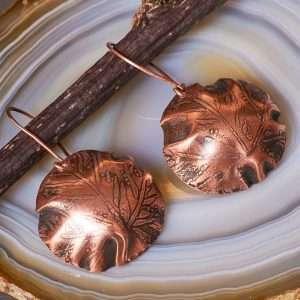 Boho Botanical Copper Earrings